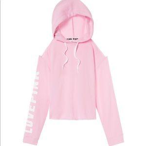 Pink VS hoody & black VS shorts set